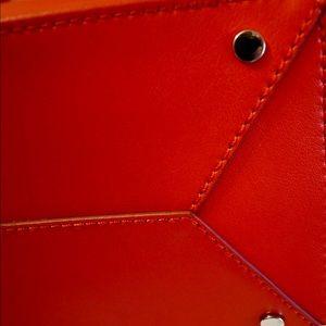 Banana Republic Accessories - Banana Republic Genuine leather red tote
